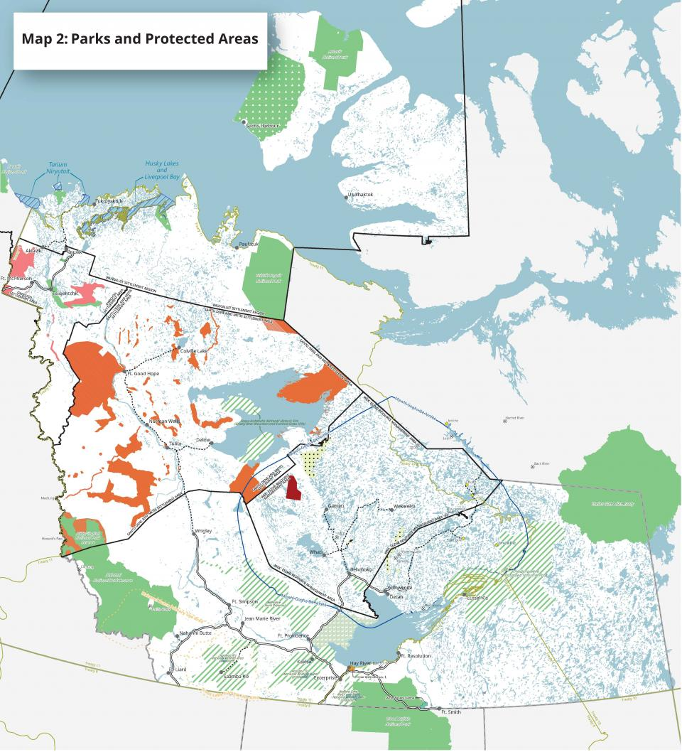 Map 2: Parks and Protected Areas